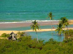 A praia dos nativos em trancoso.
