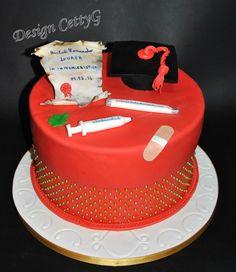 Le torte decorate di CettyG...: Laurea in Infermieristica cake.... Graduation, Food Porn, Cooking Recipes, Birthday Cake, Cakes, Desserts, Party, Food Cakes, Deserts