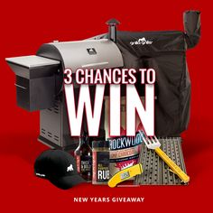 WIN our Grilla Grills New Years Giveaway! 3 Chances to Enter. We're giving away a Grilla Grills Pellet Smoker or Kamado Grill, Grill Grates, a Thermopen Thermometer, Fuel, Award Winning Sauce, Rub, and more!