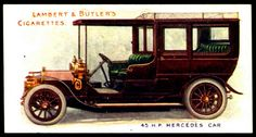 Cigarette Card - Mercedes Motor Car, 1908