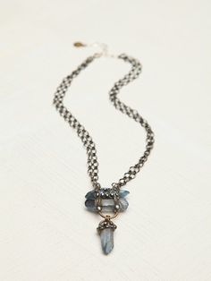 Free People Mikal Winn Stacked Crystal Pendant, $218.00