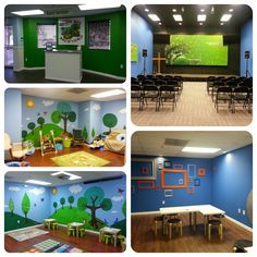 The newly redesigned Kids Ministry space at West Pines Community Church.