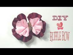 Headband Ideas : Ruffle Bow Headband | DIY by Elysia Handmade - YouTube