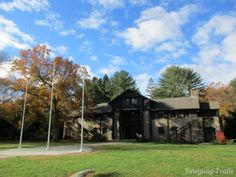 The Bucklin Memorial Building in autumn  at Camp #Yawgoog.  Image by David R. Brierley.