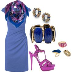 Blue & Fushia AGAIN HATE THE SHOES BUT THE LOVE THE STYLE & COLOR