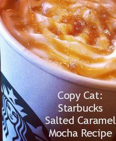 Copy Cat: Starbucks Salted #Caramel Mocha #Recipe #WerthersCaramel Who doesn't love a caramel inspired hot drink?!!