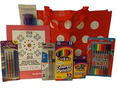 Adult Coloring Book Gift Set Bundle - 8 Items: Tote, Markers, Crayons, Colored Pencils, Sharpener, Gel Pens, Easy to See Large Print Easy Level Coloring Book of Mandalas & Patterns (Red) Hot Pink Girl, iScholar, Crayola http://www.amazon.com/dp/B01DTL3C3I/ref=cm_sw_r_pi_dp_kVxbxb0228K4P