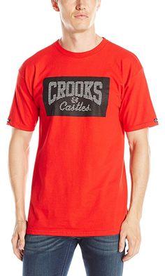Crooks & Castles Men's Keffyeh Core T-Shirt, True Red, X-Large Best Price