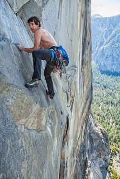 Alex Honnold free climbing on Zodiac - from Alex and Allfrey's El Cap: Seven Routes in Seven Days