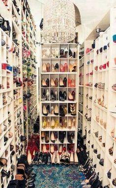 The dream shoe closet.