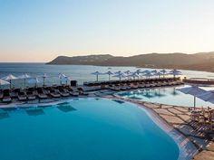 Myconian Imperial Hotel & Thalasso Spa Center 5 Stars luxury hotel in Elia Offers Reviews 5 Star Hotels, Best Hotels, Imperial Hotel, Spa Center, Fine Sand, Leading Hotels, Fine Hotels, Aqua Marine, Mykonos