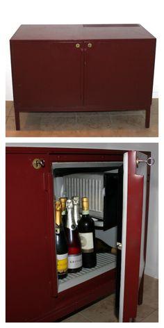 Barskab-med-køleskab #barskab