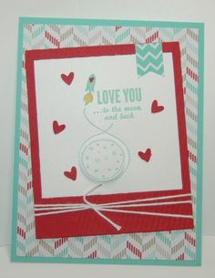 Stampin' Up!, love you to the moon, fresh prints  www.carolpayne.stampinup.net