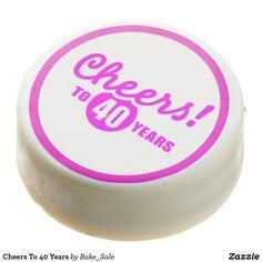 Shop Cheers To 40 Years Chocolate Covered Oreo created by Bake_Sale. Birthday Treats, Birthday Cookies, Girl Birthday, Birthday Gifts, Chocolate Dipped Oreos, Oreo Pops, Oreo Cookies, Bake Sale