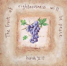 righteousness & peace
