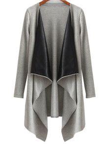 Shop Grey Draped Neck Open Front Asymmetrical Coat online. SheIn offers Grey Draped Neck Open Front Asymmetrical Coat & more to fit your fashionable needs.