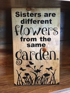 Sister Sign Sister Wood Sign Sister Wooden Sign by LessMonday Woodworking Guide, Custom Woodworking, Woodworking Projects Plans, Woodworking Bench, Wooden Diy, Wooden Signs, Kids Wood, Chalkboard Wedding, Sister Gifts