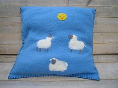 Children's pillow, sheep and moon, via Flickr.