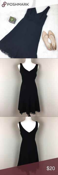 Ann Taylor Black Dress Ann Taylor black dress with lace detail around bottom. Size 0 petite. Approximate measurements flat laid are 38' long with lace and 15' busts. GUC with no major flaws. Beautiful simple dress for any event. ❌No trades ❌ Modeling ❌No PayPal or off Posh transactions ❤️ I 💕Bundles ❤️Reasonable Offers PLEASE ❤️ Ann Taylor Dresses
