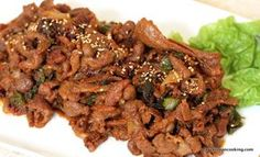 Tried n tested :Spicy Pork Bulgogi (Spicy Marinated Pork) . Verdict: tasty and very similar to korean restaurant quality. Use pork belly if possible and slice thinly Entree Recipes, Spicy Recipes, Asian Recipes, Real Food Recipes, Chicken Recipes, Cooking Recipes, Pork Recipes, Yummy Recipes, Spicy Pork Bulgogi Recipe
