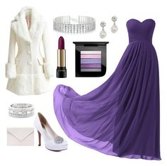 """""""purple prom"""" by nioma0nwat3r ❤ liked on Polyvore featuring Remedios, WithChic, Verali, Sole Society, Red Herring, Lancôme and MAC Cosmetics"""