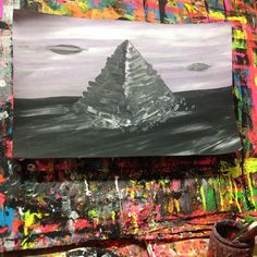 #gregggriffin #studio #art #painting #ufo#pop#outsider #lowbrow #gothic #modern