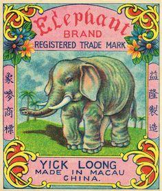 Elephant C2 Firecracker Pack Label | Flickr - Photo Sharing!