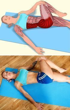 İlgili kaslar: Popo ve karın yan kaslar. Sağ dizinizi bükün ve… Related muscles: Butt and abdominal side muscles. Bend your right knee and move your leg from left to body. Press lightly with your hand to… Continue Reading → Fitness Workouts, Yoga Fitness, Pilates Workout, At Home Workouts, Health Fitness, Yoga Workouts, Muscle Stretches, Hip Stretching Exercises, Ankle Strengthening Exercises