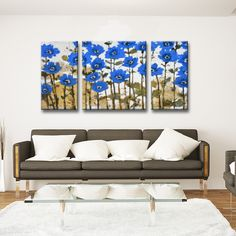 Ready2HangArt 'Spring Sapphires' by Norman Wyatt Jr. 3-PC Canvas Art Set