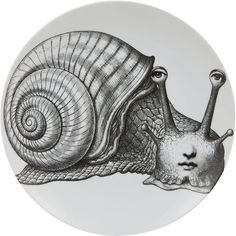 "Fornasetti Face On Snail"" Plate"