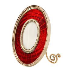 Important Faberge Red Enamel Picture Frame | From a unique collection of vintage enamel frames and objects at https://www.1stdibs.com/jewelry/objets-dart-vertu/enamel-frames-objects/