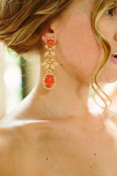 Coral Vintage Style Earrings