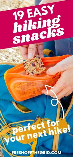 Check out these 19 EASY hiking snacks to take on your next hike! Hitting the trail is a great way to connect with nature and get some exercise, and it's important to keep your energy high and muscles fueled during your hike. In this post, we're sharing the best hiking snacks to enjoy on the trail. Cheese Crisps, Baked Cheese, Best Camping Meals, Camping Recipes, Fun Easy Recipes, Easy Meals, Trail Mix Recipes, Dutch Oven Recipes, Survival Food