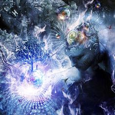 """Subatomic particles do not exist but rather show 'tendencies to exist', and atomic events do not occur with certainty at definite times and in definite ways, but rather show 'tendencies to occur'."" ― Fritjof Capra, The Tao of Physics: An Exploration of the Parallels between Modern Physics and Eastern Mysticism  (Art by Cameron Gray)"