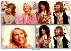 """Today in 1978 Abba appeared on the UK TV show """"Blue Peter"""" before attending the premier of """"Abba - The Movie"""" in London #Abba #Agnetha #Frida #BluePeter http://abbafansblog.blogspot.co.uk/2017/02/16th-february-1978_16.html"""
