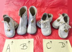 3df9454e24d50 Very *Rare 80's* High Top REEBOKS Vintage Unisex Baby SHOES- Size 1 ...