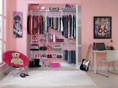 Systematic Storage teen girls. Closet organization systems can help you designate separate areas for shirts, pants, skirts, shoes and toys. Creating zones in the closet makes clean-up easier and teaches your child how to stay organized. Photo courtesy of Rubbermaid.