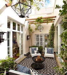 With the most suitable style and decor, you can make a lovely patio area for your home. You can receive the help, ideas, and the patio decor you will need to make the ideal area in your house. Decide where you would like your patio. Style At Home, Outdoor Patio Designs, Backyard Ideas, Backyard Retreat, Pool Ideas, Alfresco Designs, Tiny Garden Ideas, Desert Backyard, Patio Decks