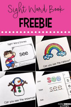 Grab this FREE sight word book! These Sight Word Stories are emergent readers for students to work on reading their sight words in simple sentences. These books also have an interactive page to work on sight words. - Kids education and learning acts Preschool Sight Words, Teaching Sight Words, Sight Word Practice, Sight Word Games, Sight Word Activities, Preschool Alphabet, Preschool Learning, Early Learning, Sight Word Sentences