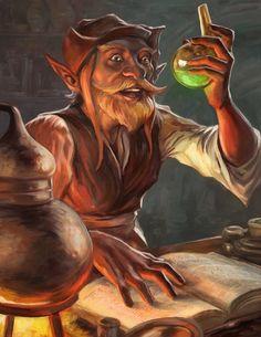 Alchemist Halfling by egilthompson