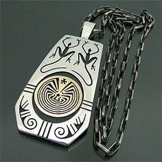 Jason Takala pendant with hopi chain