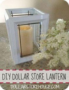 DIY Dollar Store Lantern