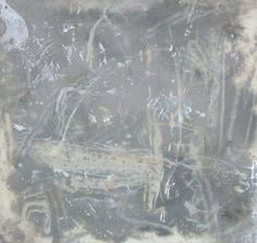 Available for sale from CYNTHIA-REEVES, Michael Mulhern, Untitled #8 (2002), Aluminum paint and charcoal on mylar, 7 1/2 × 8 in