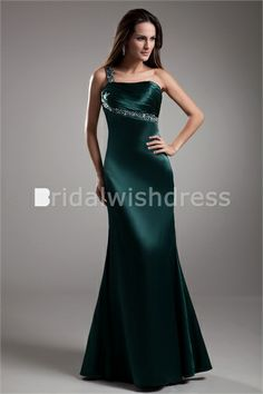 Fall Military Ball Floor-Length Elastic Woven Satin Special Occasion Dresses