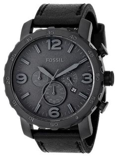Fossil Men's JR1354 Nate Analog Display Analog Quartz Black Watch Add it to your wishlist at yourwishfromme.com - croton watches, mens watches, hand watch for man *sponsored https://www.pinterest.com/watches_watch/ https://www.pinterest.com/explore/watch/ https://www.pinterest.com/watches_watch/ladies-watches/ https://www.costco.com/watches.html
