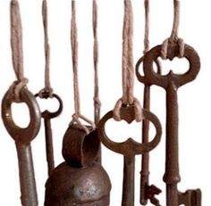 Wind Chimes... Use skeleton keys, old bells, teapot...