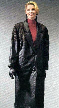 Long Leather Coat, Leather Gloves, Vintage Leather, Raincoat, Woman, Jackets, Fashion, Leather, Rain Jacket