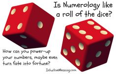 #numerology: is there power in the numbers, or is it like a roll of the dice? #intuitivemeaning