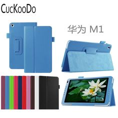 50Pcs/Lot 10.1 Inch Lichee Pattern PU Leather Case with Stand Holder for Huawei MediaPad M1(S8-301W)With Auto Wake/Sleep Feature #Affiliate