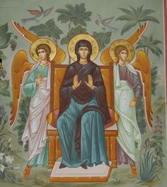 ΘΥ__Παναγια ( Whispers of an Immortalist: Most Holy Theotokos 12 Byzantine Icons, Byzantine Art, Religious Icons, Religious Art, Madonna, Icon Collection, Believe In God, All Icon, Orthodox Icons